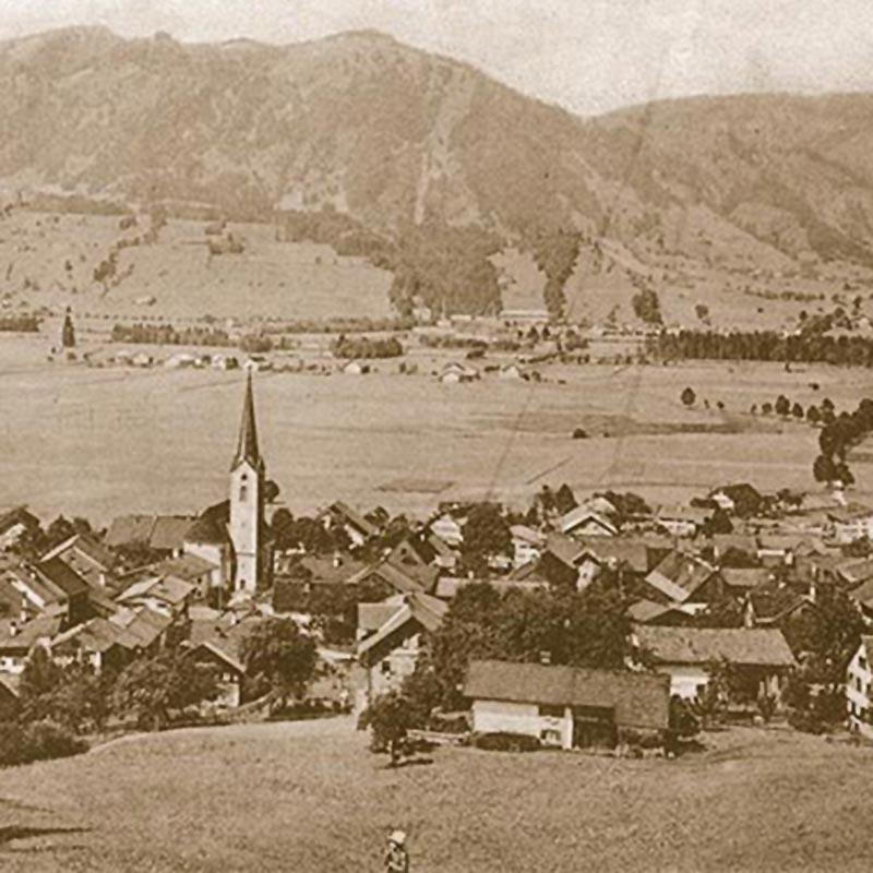Dorfleben Burgberg im Allgäu Historie