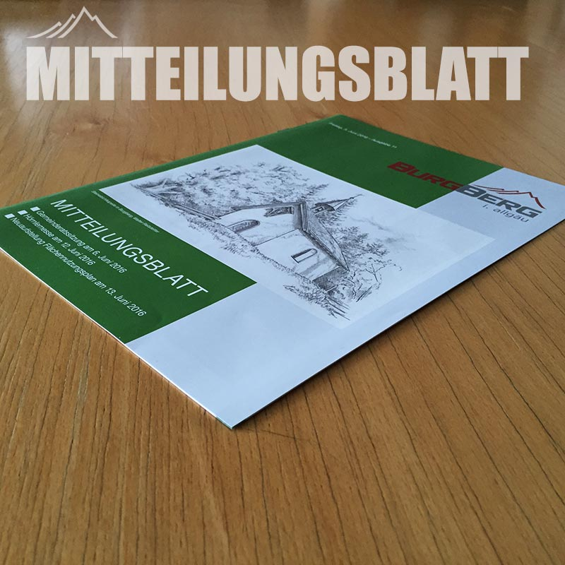 Mitteilungsblatt Burgberg im Allgäu