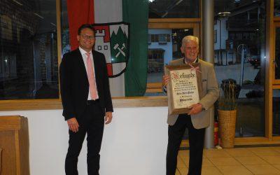 Feierliche Verabschiedung unseres Altbürgermeisters Dieter Fischer und der ehemaligen Gemeinderäte